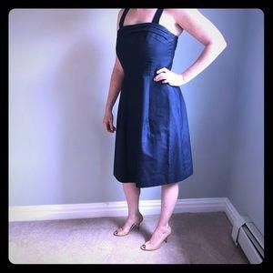 J Crew Marie Cotton Cady Dress- Navy